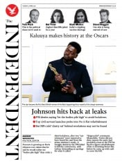 The Independent front page for 27 April 2021