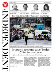 The Independent front page for 27 June 2020