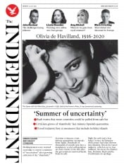 The Independent front page for 27 July 2020