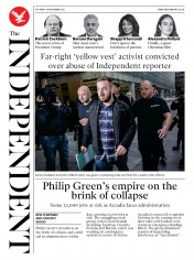 The Independent front page for 28 November 2020