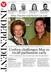 The Independent (UK) Newspaper Front Page for 28 December 2018