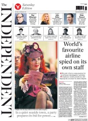 The Independent (UK) Newspaper Front Page for 28 February 2015