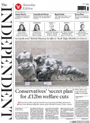 The Independent (UK) Newspaper Front Page for 28 March 2015