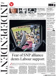 The Independent (UK) Newspaper Front Page for 28 April 2015