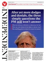 The Independent front page for 28 April 2021