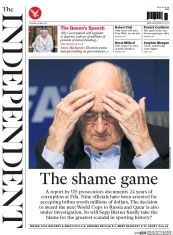 The Independent (UK) Newspaper Front Page for 28 May 2015