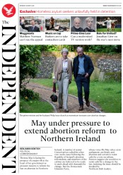 The Independent (UK) Newspaper Front Page for 28 May 2018