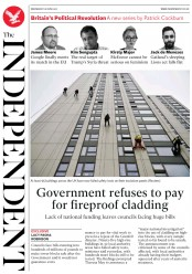 The Independent (UK) Newspaper Front Page for 28 June 2017