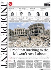 The Independent (UK) Newspaper Front Page for 28 July 2015