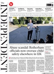 The Independent (UK) Newspaper Front Page for 28 August 2014