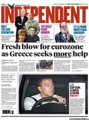 The Independent Newspaper Front Page (UK) for 28 September 2012