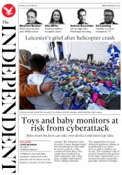 The Independent (UK) Newspaper Front Page for 29 October 2018