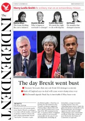 The Independent (UK) Newspaper Front Page for 29 November 2018