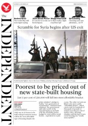 The Independent (UK) Newspaper Front Page for 29 December 2018