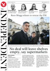 The Independent (UK) Newspaper Front Page for 29 January 2019