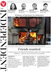 The Independent front page for 29 May 2020