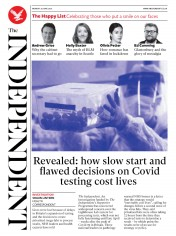 The Independent front page for 29 June 2020