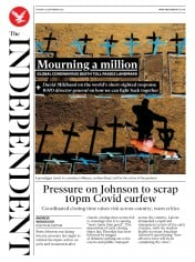 The Independent front page for 29 September 2020