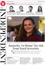 The Independent (UK) Newspaper Front Page for 2 December 2019