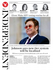The Independent front page for 2 December 2020