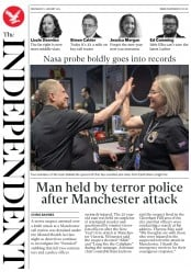 The Independent (UK) Newspaper Front Page for 2 January 2019