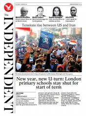 The Independent front page for 2 January 2021