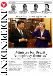 The Independent (UK) Newspaper Front Page for 2 February 2018