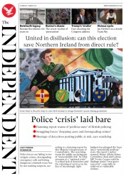 The Independent (UK) Newspaper Front Page for 2 March 2017