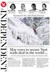 The Independent (UK) Newspaper Front Page for 2 March 2018