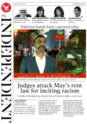 The Independent () Newspaper Front Page for 2 March 2019