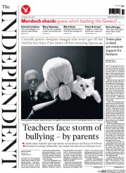 The Independent (UK) Newspaper Front Page for 2 April 2015
