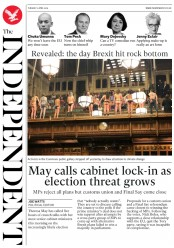 The Independent (UK) Newspaper Front Page for 2 April 2019