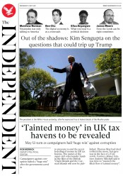 The Independent (UK) Newspaper Front Page for 2 May 2018