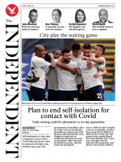 The Independent front page for 2 May 2021