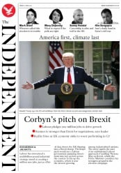 The Independent (UK) Newspaper Front Page for 2 June 2017