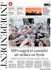 The Independent (UK) Newspaper Front Page for 2 July 2015
