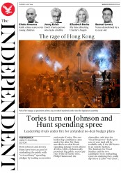 The Independent (UK) Newspaper Front Page for 2 July 2019