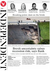 The Independent (UK) Newspaper Front Page for 2 August 2019