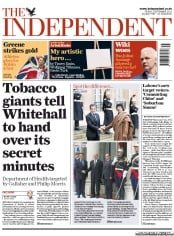 The Independent (UK) Newspaper Front Page for 2 September 2011