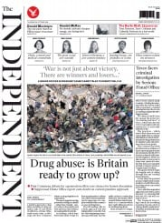 The Independent (UK) Newspaper Front Page for 30 October 2014