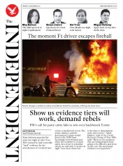 The Independent front page for 30 November 2020