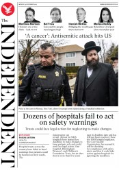 The Independent (UK) Newspaper Front Page for 30 December 2019