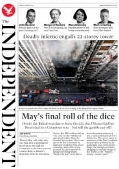 The Independent (UK) Newspaper Front Page for 30 March 2019