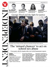 The Independent (UK) Newspaper Front Page for 30 March 2021