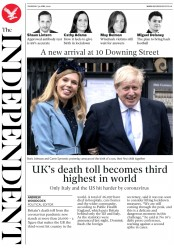 The Independent (UK) Newspaper Front Page for 30 April 2020