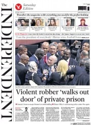 The Independent (UK) Newspaper Front Page for 30 May 2015