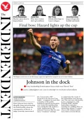 The Independent (UK) Newspaper Front Page for 30 May 2019