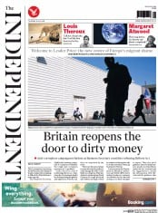 The Independent (UK) Newspaper Front Page for 30 July 2015