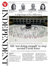 The Independent front page for 30 July 2020