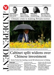 The Independent () Newspaper Front Page for 30 July 2021